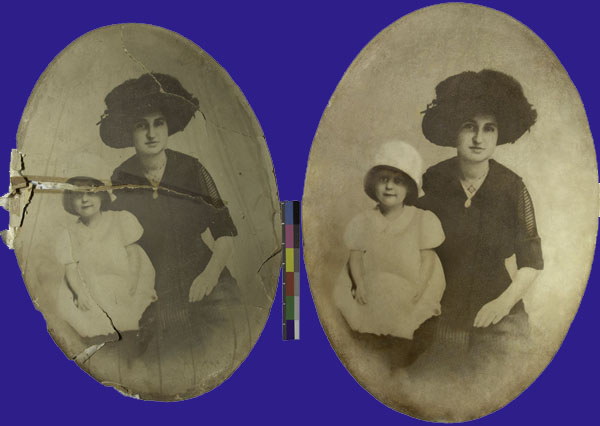 OLD PHOTOGRAPH Before and After